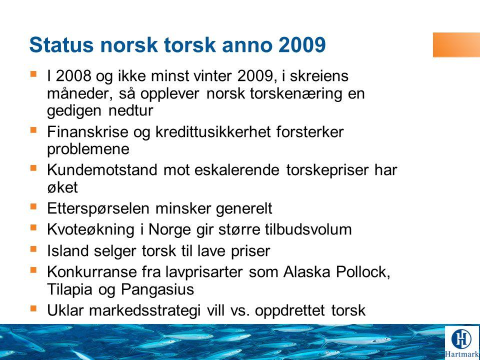 Status norsk torsk anno 2009