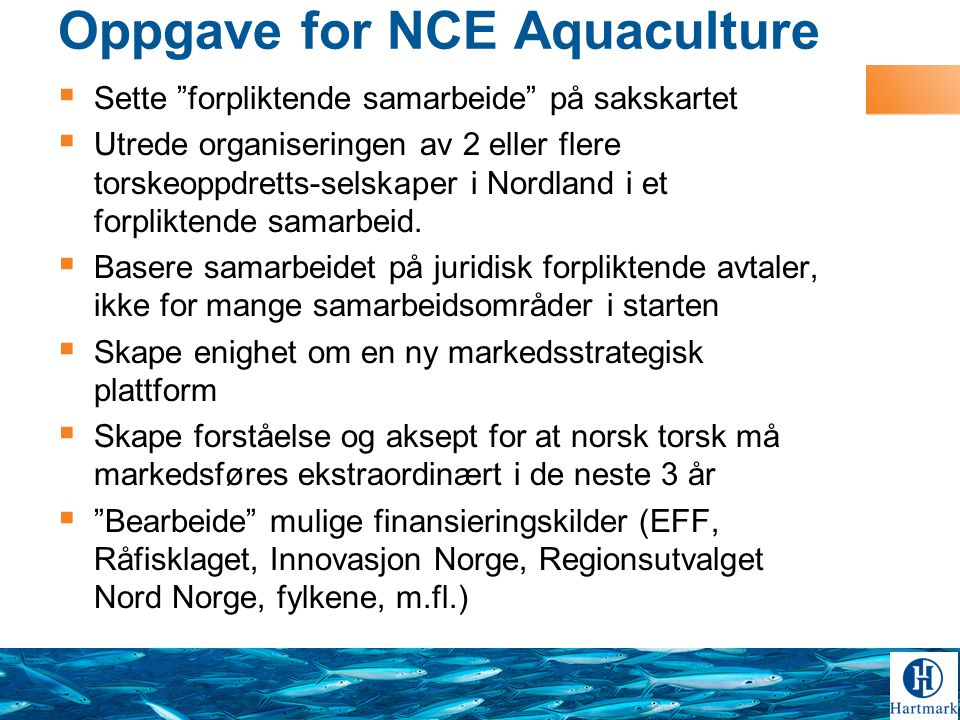 Oppgave for NCE Aquaculture