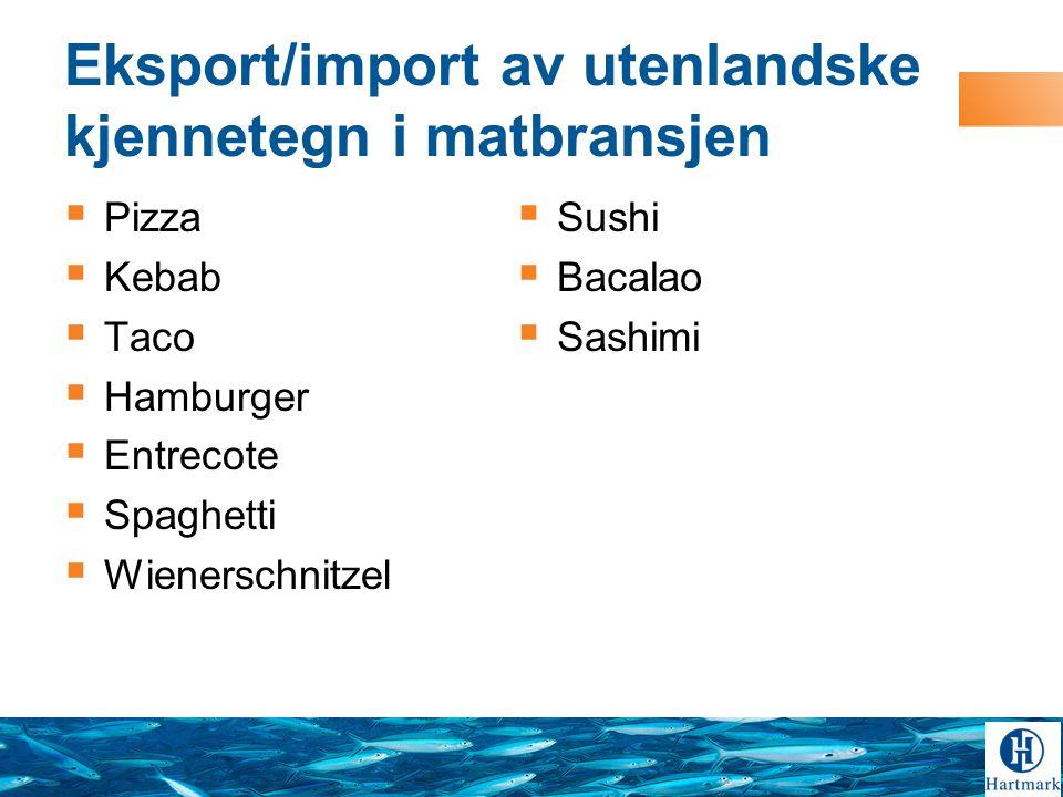 Eksport/import av utenlandske kjennetegn i matbransjen