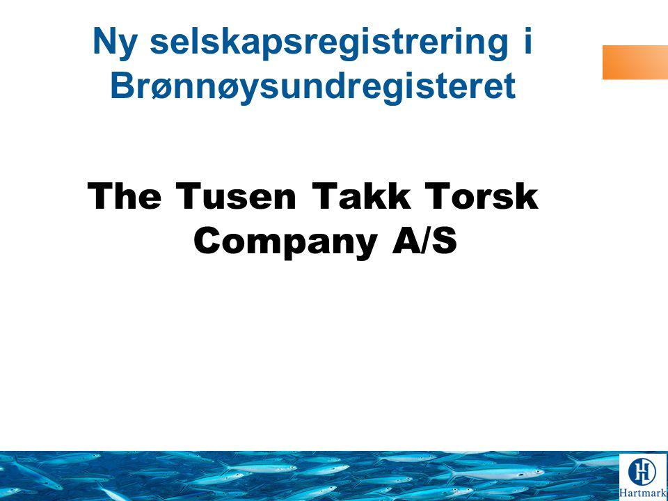 Ny selskapsregistrering i Brønnøysundregisteret