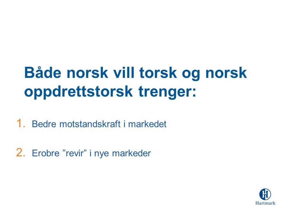 Både norsk vill torsk og norsk oppdrettstorsk trenger: