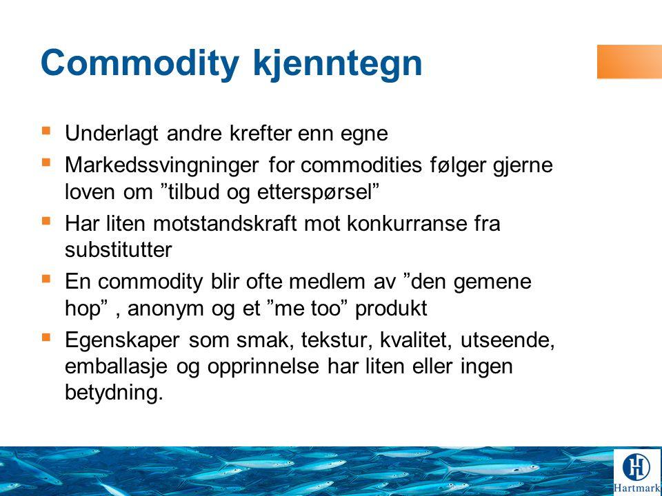Commodity kjenntegn Underlagt andre krefter enn egne