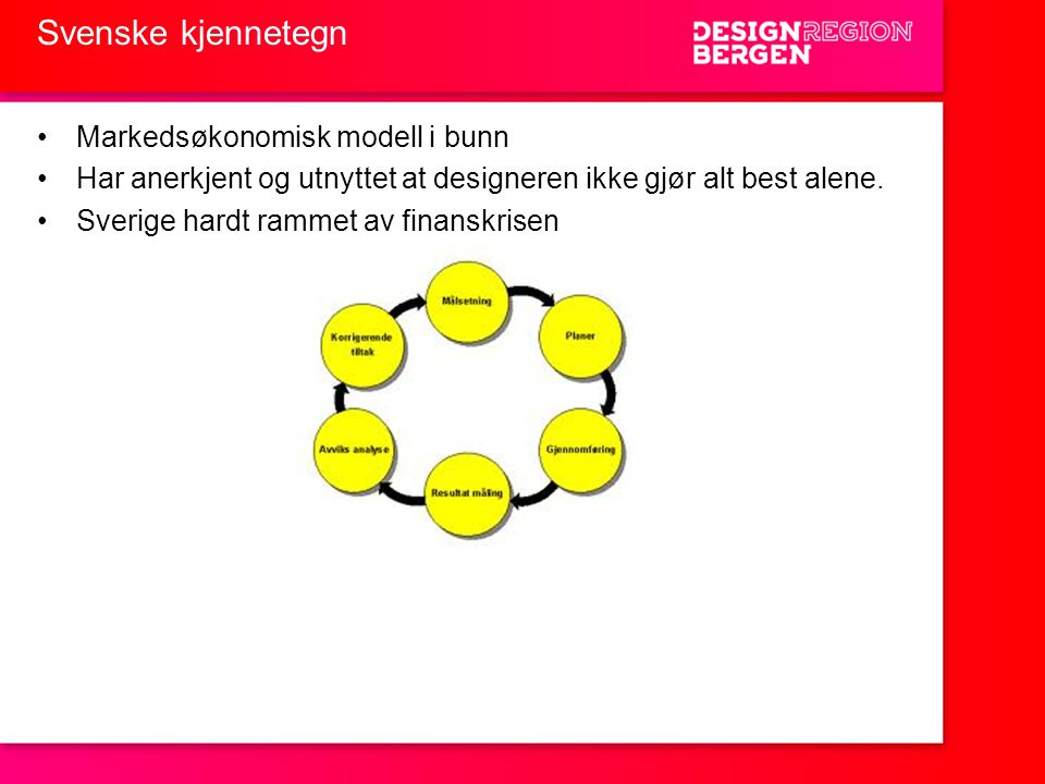 Svenske kjennetegn Markedsøkonomisk modell i bunn
