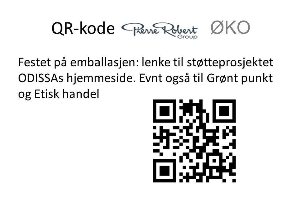 QR-kode i ØKO Festet på emballasjen: lenke til støtteprosjektet ODISSAs hjemmeside.