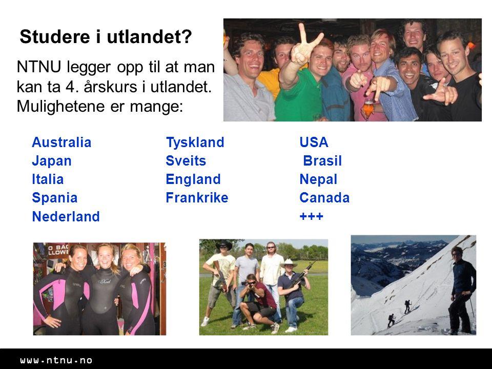 Studere i utlandet NTNU legger opp til at man kan ta 4. årskurs i utlandet. Mulighetene er mange: Australia.