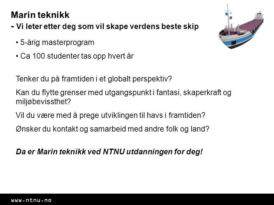 Marin teknikk - Vi leter etter deg som vil skape verdens beste skip