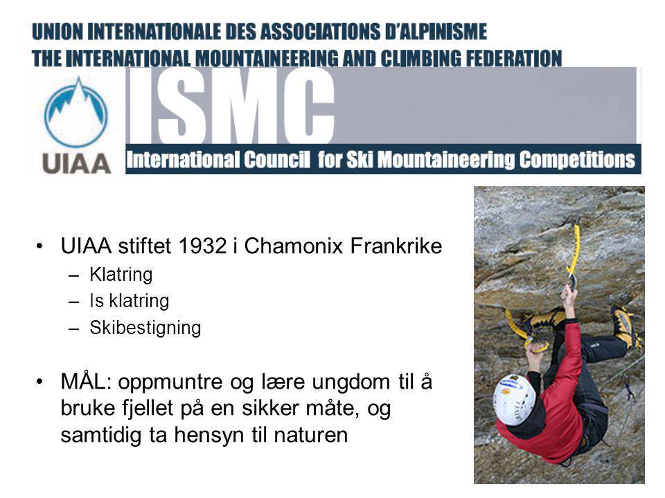 UIAA stiftet 1932 i Chamonix Frankrike