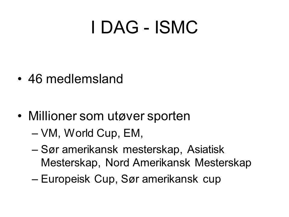 I DAG - ISMC 46 medlemsland Millioner som utøver sporten