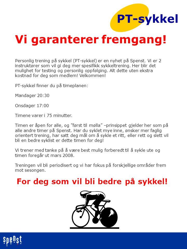 For deg som vil bli bedre på sykkel!