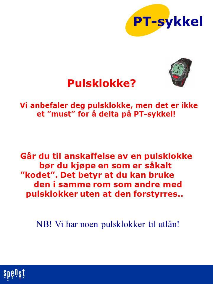 PT-sykkel Pulsklokke NB! Vi har noen pulsklokker til utlån!
