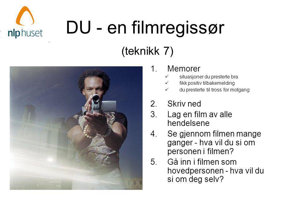 DU - en filmregissør (teknikk 7)