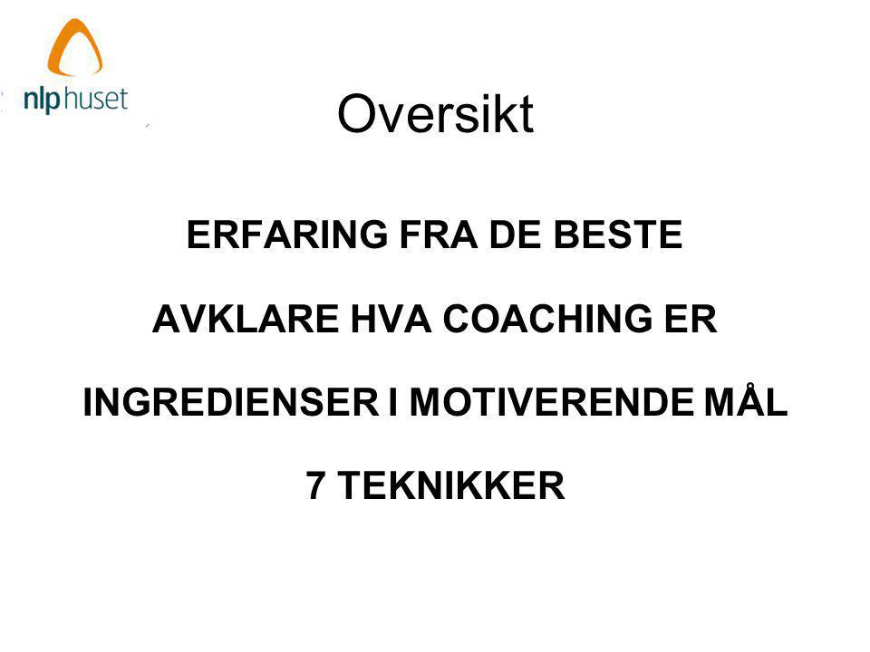 AVKLARE HVA COACHING ER INGREDIENSER I MOTIVERENDE MÅL