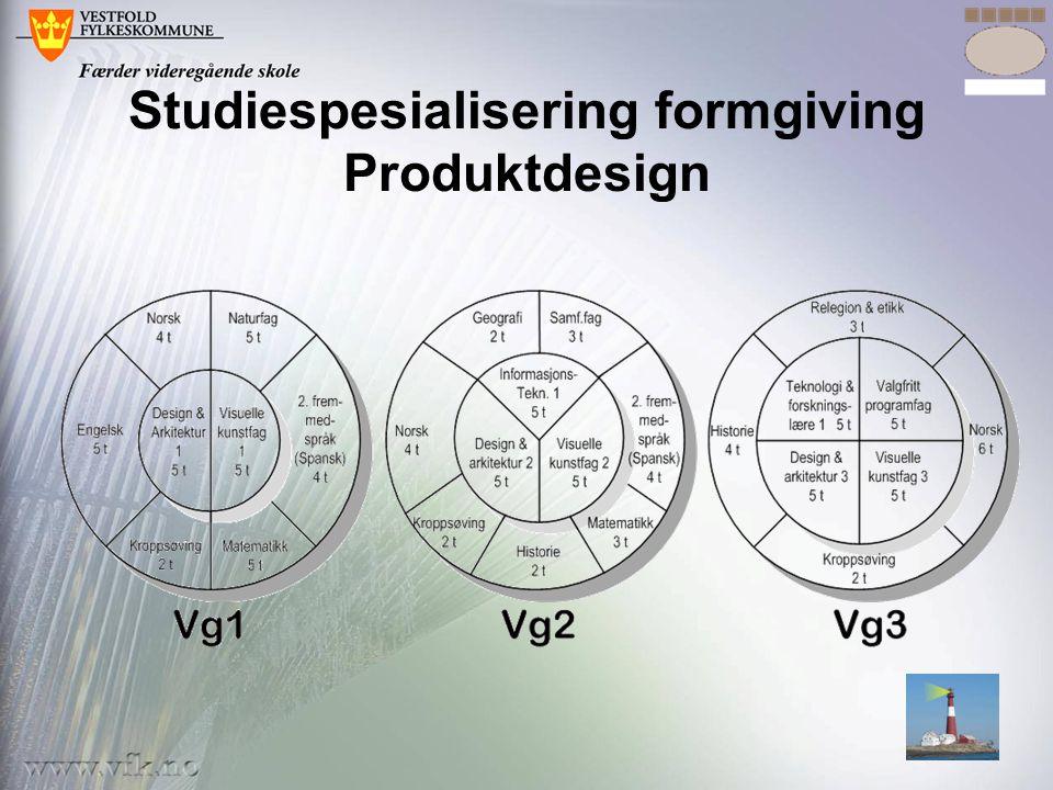 Studiespesialisering formgiving Produktdesign