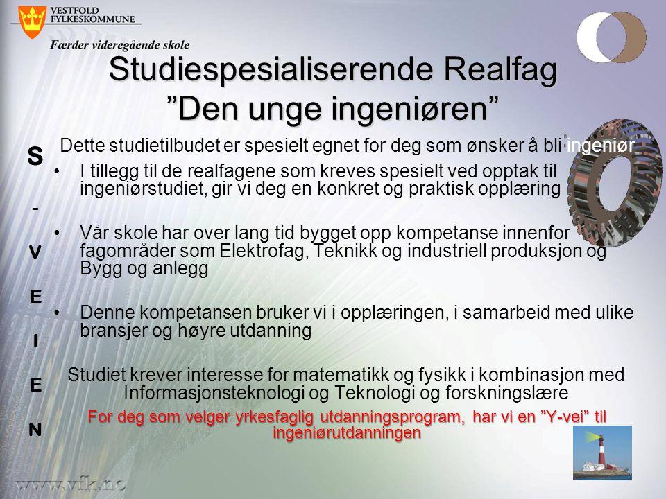 Studiespesialiserende Realfag Den unge ingeniøren
