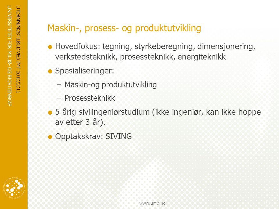 Maskin-, prosess- og produktutvikling