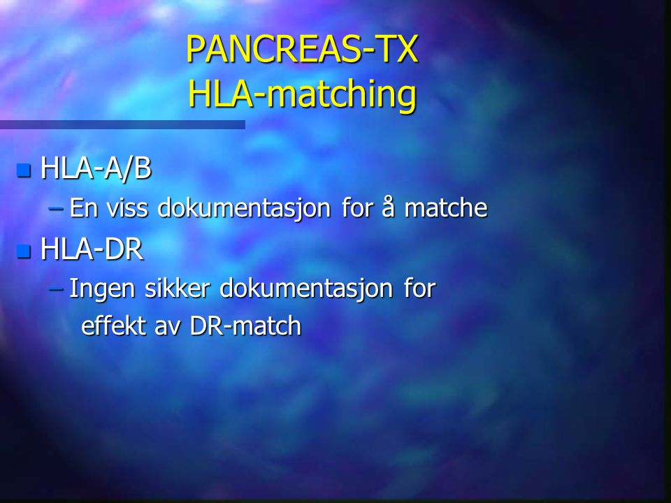 PANCREAS-TX HLA-matching
