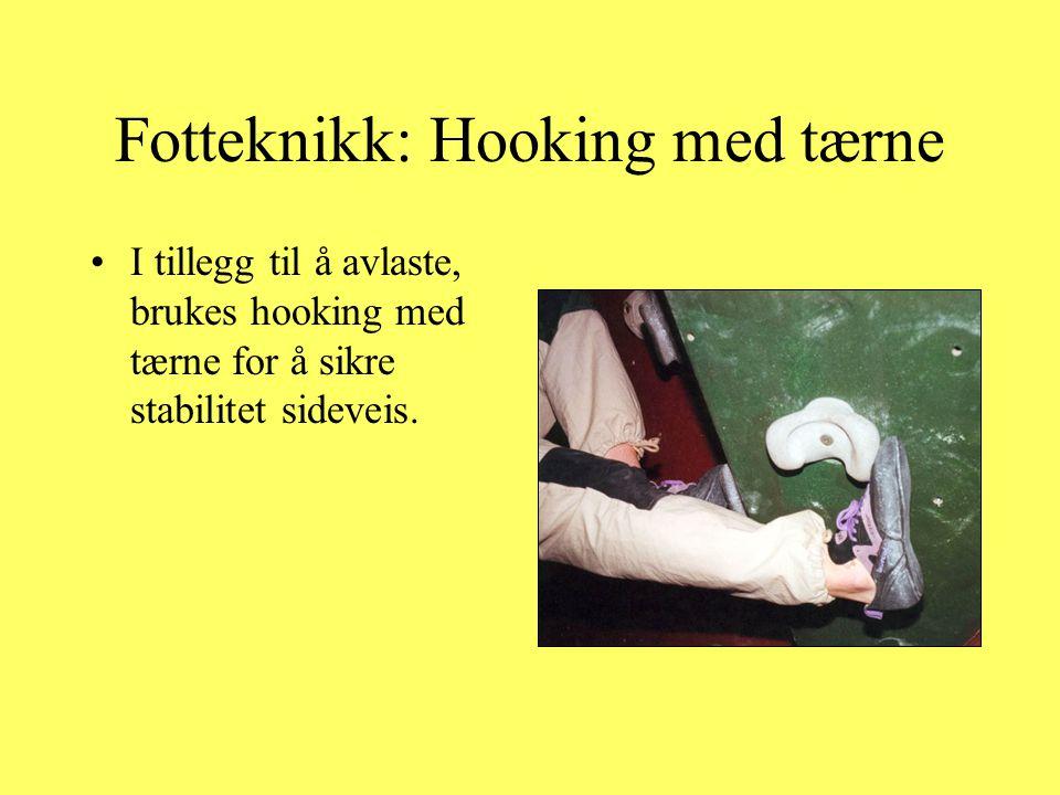 Fotteknikk: Hooking med tærne