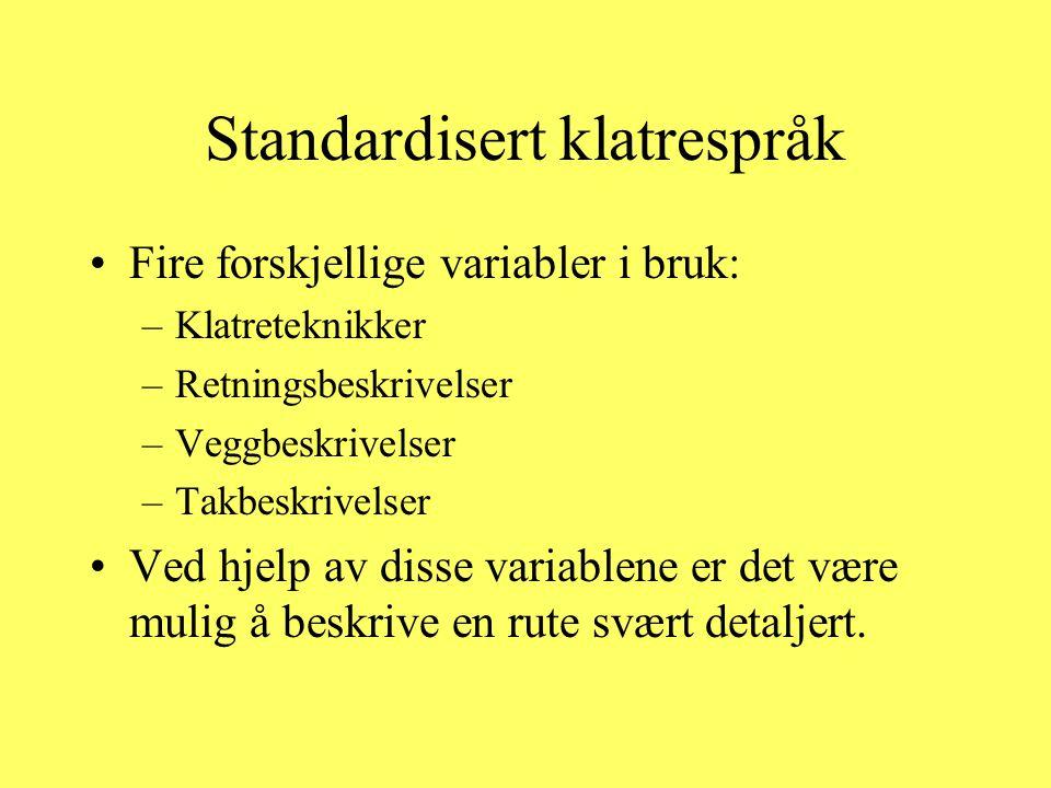 Standardisert klatrespråk