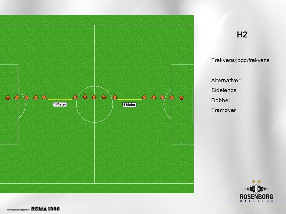 H2 Frekvens/jogg/frekvens Alternativer: Sidelengs Dobbel Framover