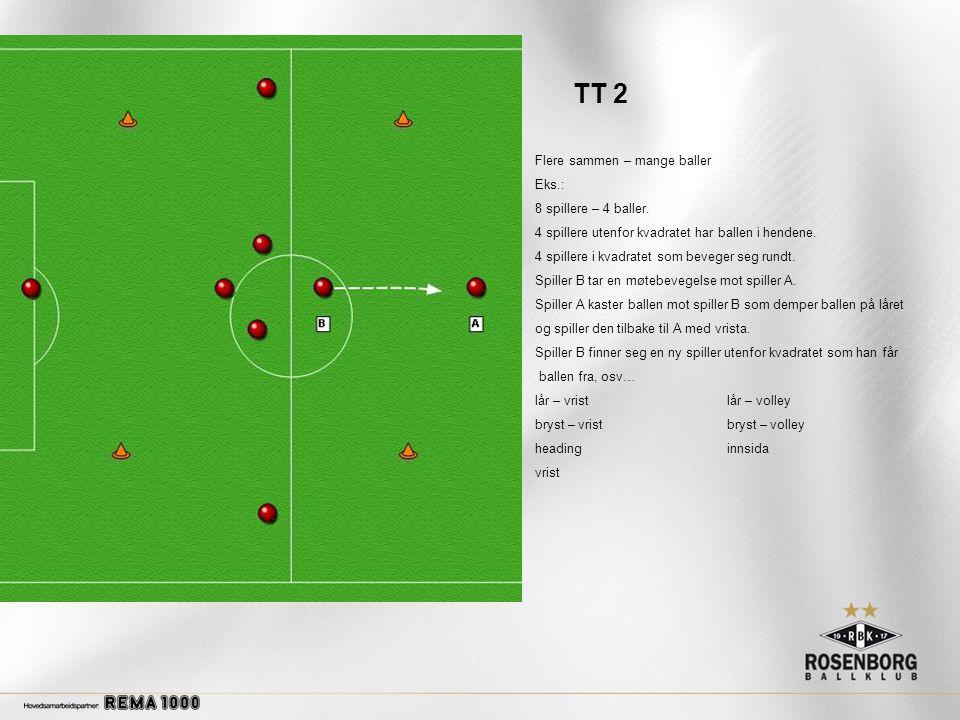 TT 2 Flere sammen – mange baller Eks.: 8 spillere – 4 baller.