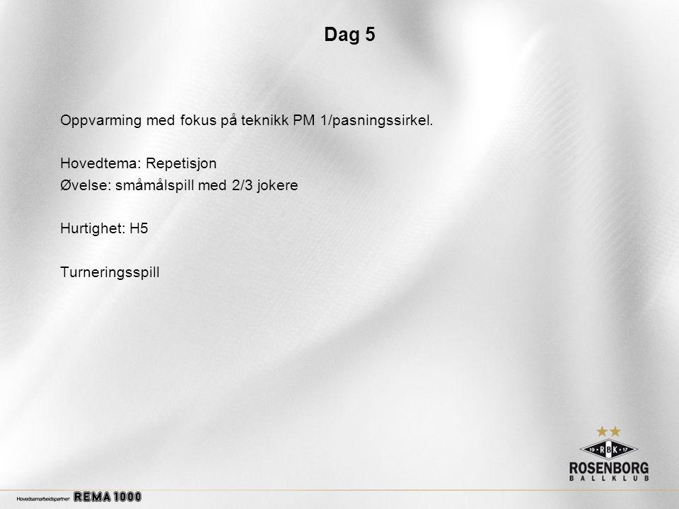 Dag 5 Oppvarming med fokus på teknikk PM 1/pasningssirkel.