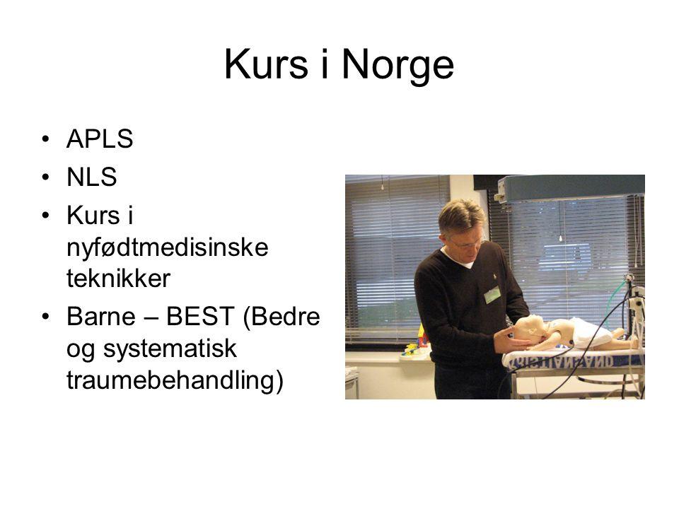 Kurs i Norge APLS NLS Kurs i nyfødtmedisinske teknikker