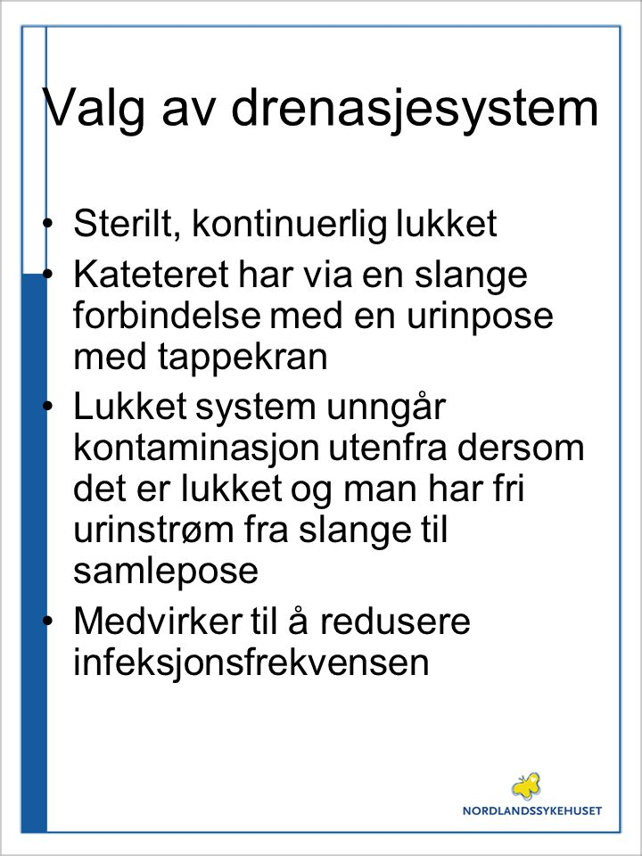 Valg av drenasjesystem