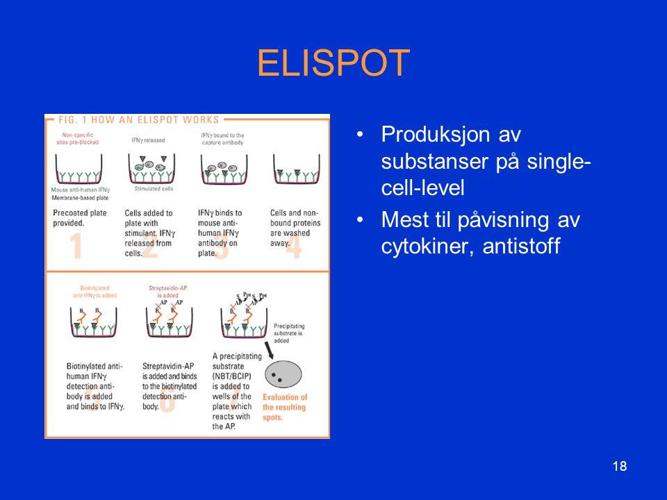 ELISPOT Produksjon av substanser på single-cell-level