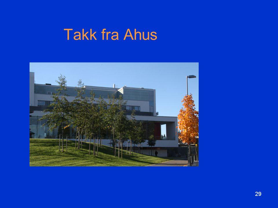 Takk fra Ahus