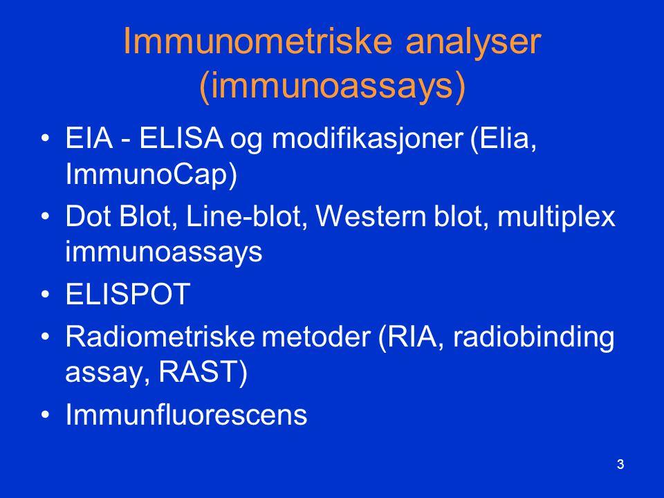Immunometriske analyser (immunoassays)