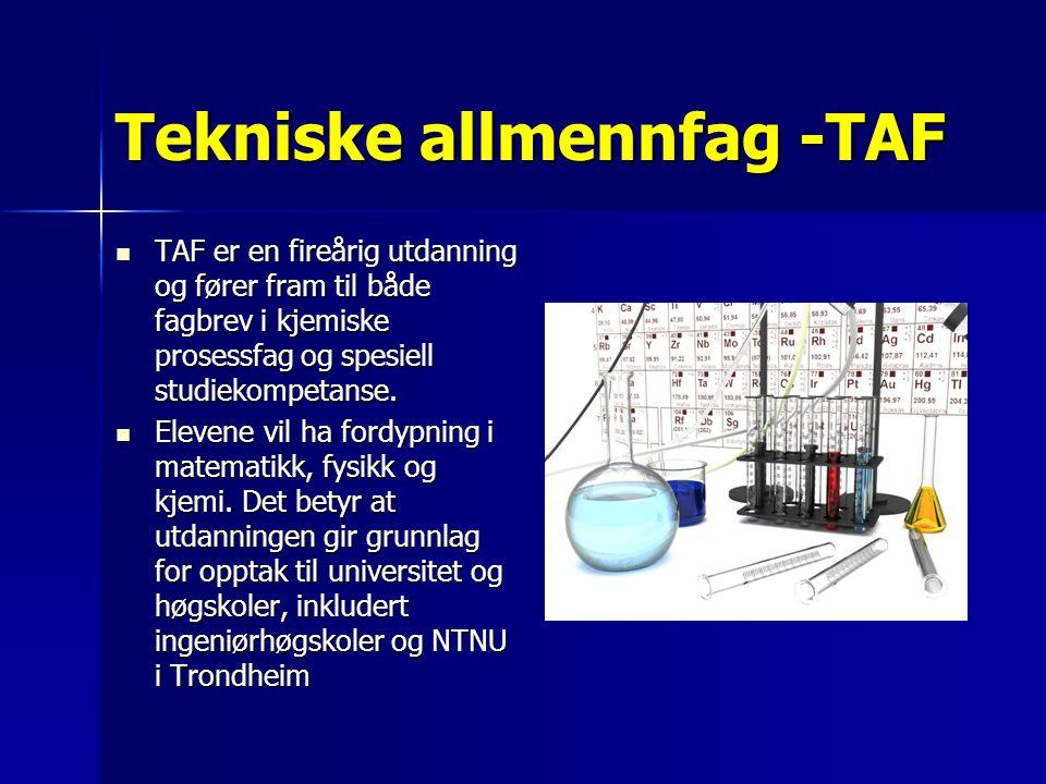 Tekniske allmennfag -TAF
