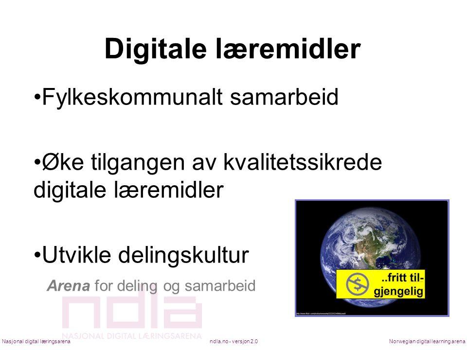 Digitale læremidler Fylkeskommunalt samarbeid