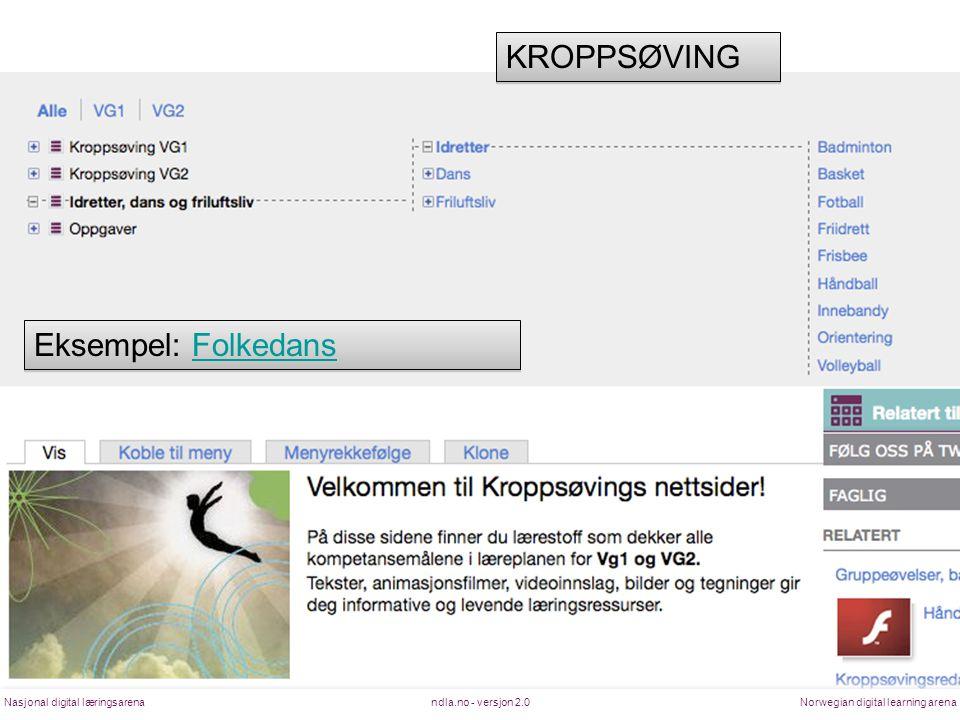 KROPPSØVING Eksempel: Folkedans