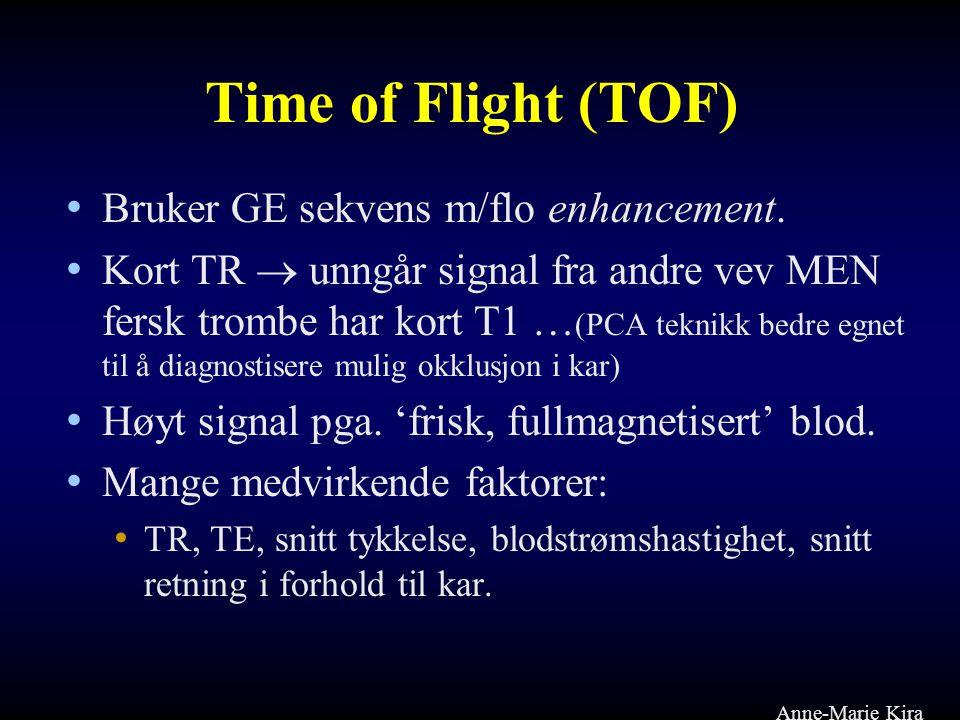 Time of Flight (TOF) Bruker GE sekvens m/flo enhancement.