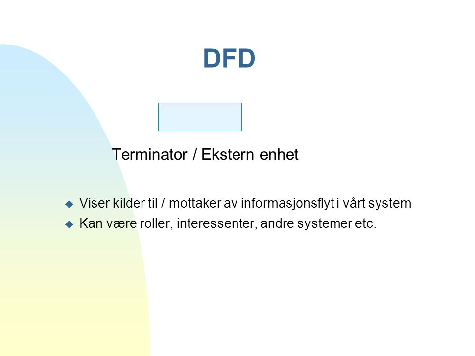 DFD Terminator / Ekstern enhet