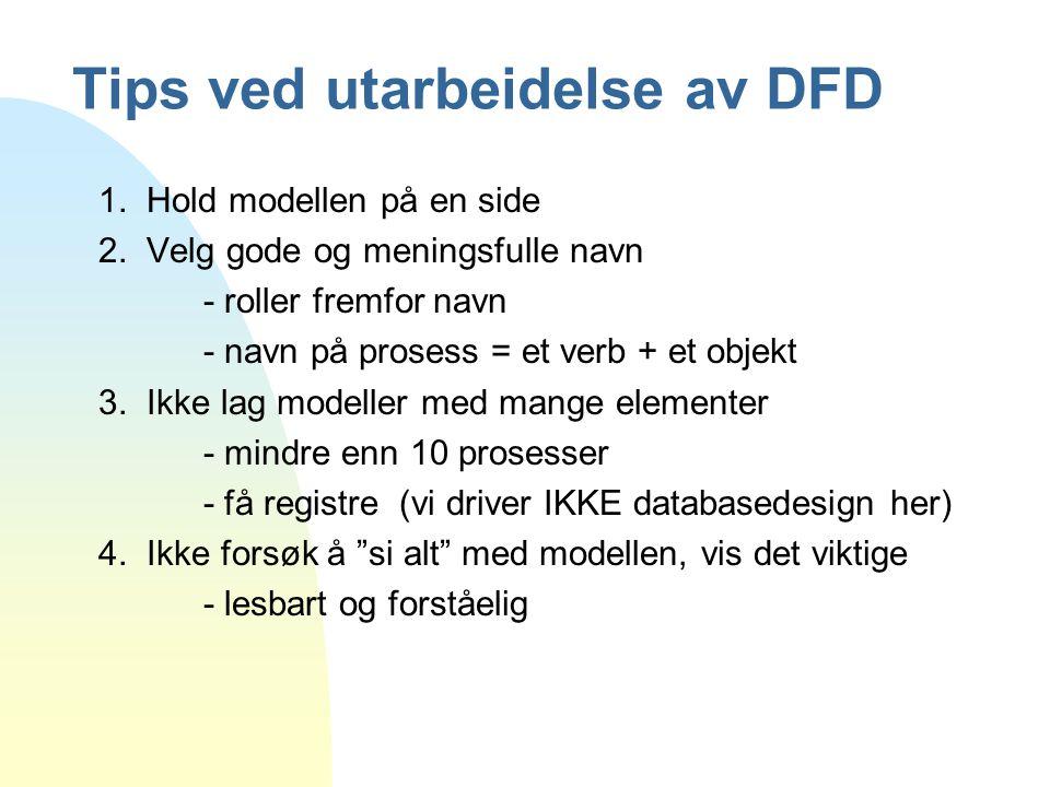 Tips ved utarbeidelse av DFD