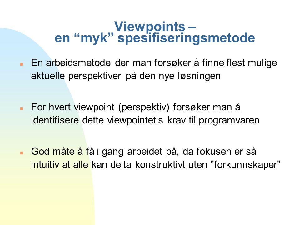 Viewpoints – en myk spesifiseringsmetode