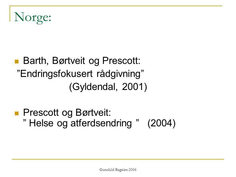 Norge: Barth, Børtveit og Prescott: Endringsfokusert rådgivning