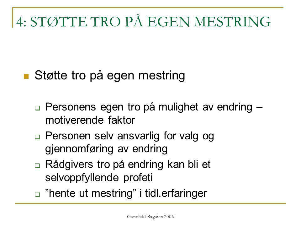 4: STØTTE TRO PÅ EGEN MESTRING