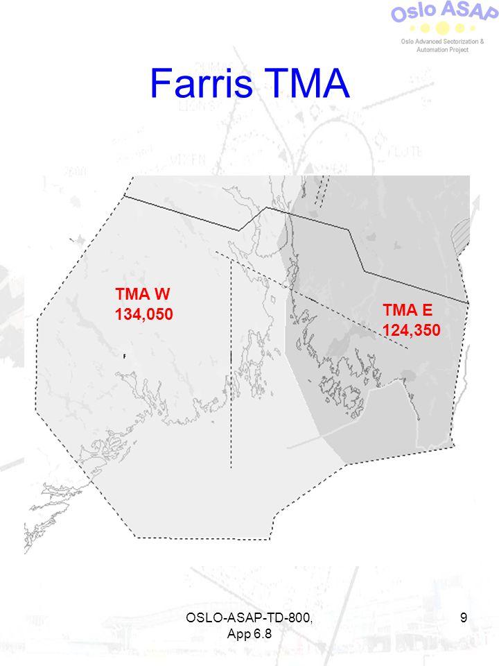 Farris TMA TMA W 134,050 TMA E 124,350 OSLO-ASAP-TD-800, App 6.8