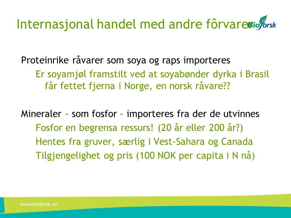 Internasjonal handel med andre fôrvarer