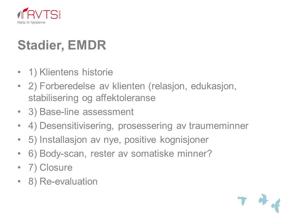 Stadier, EMDR 1) Klientens historie