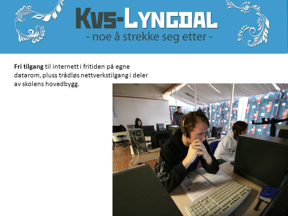 Fri tilgang til internett i fritiden på egne datarom, pluss trådløs nettverkstilgang i deler av skolens hovedbygg.