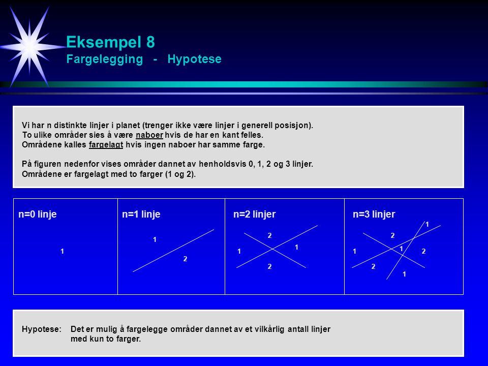 Eksempel 8 Fargelegging - Hypotese