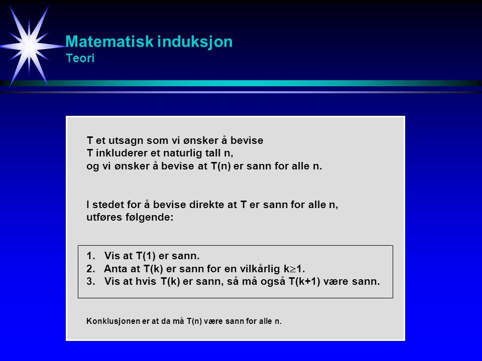 Matematisk induksjon Teori