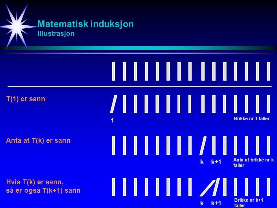 Matematisk induksjon Illustrasjon