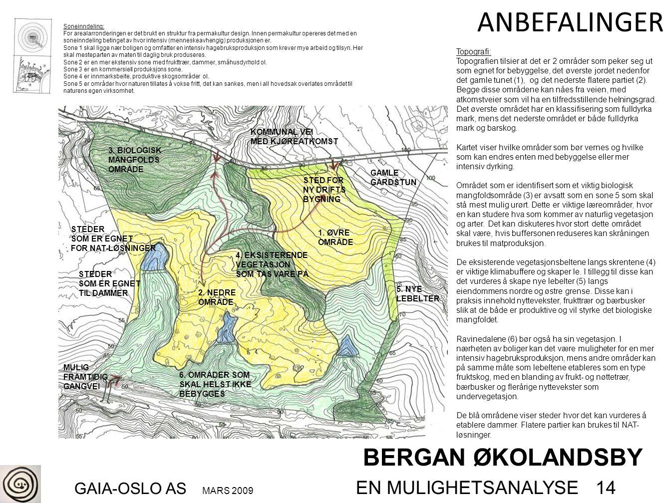 BERGAN ØKOLANDSBY GAIA-OSLO AS MARS 2009 EN MULIGHETSANALYSE 14