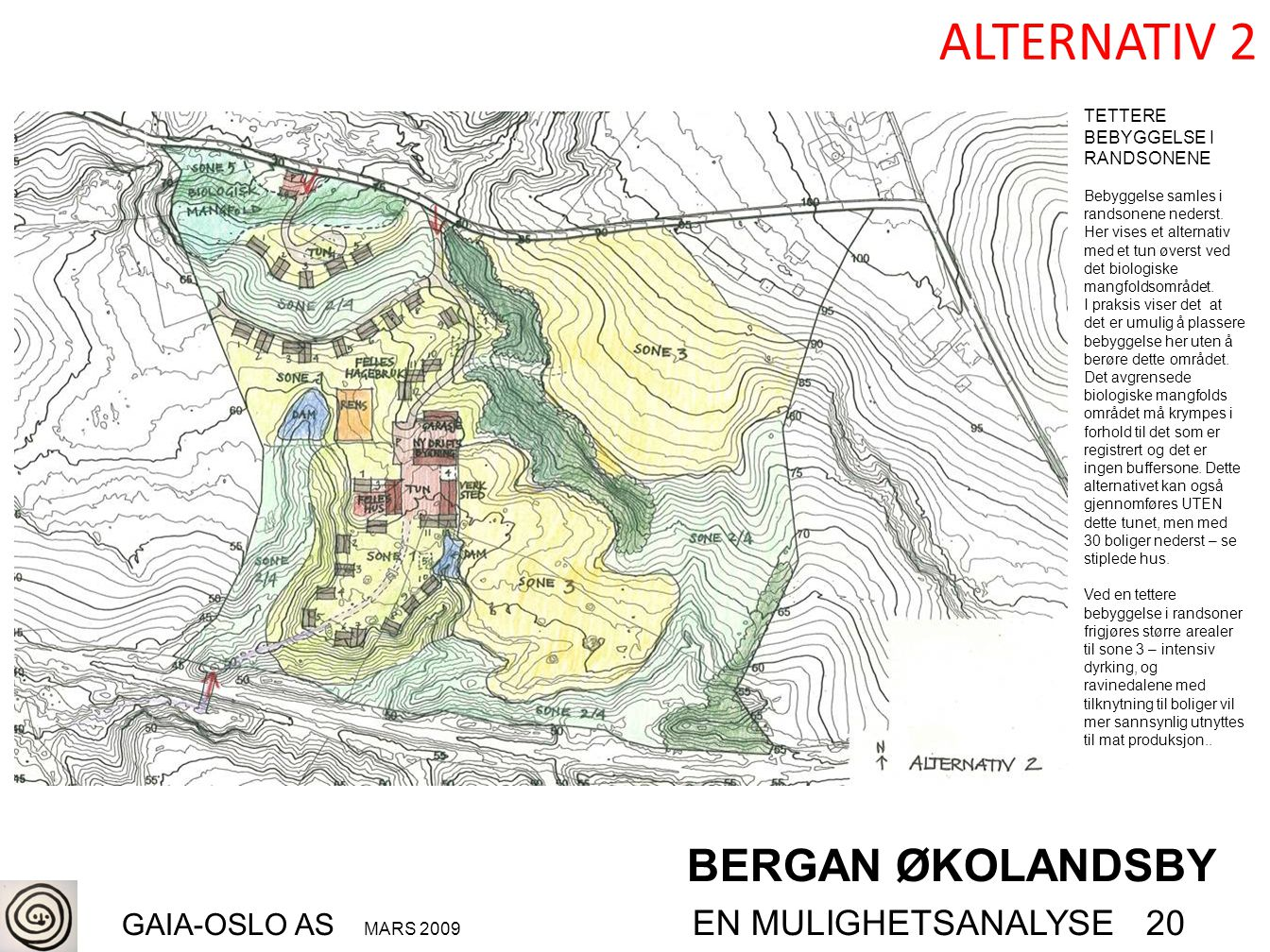 BERGAN ØKOLANDSBY GAIA-OSLO AS MARS 2009 EN MULIGHETSANALYSE 20