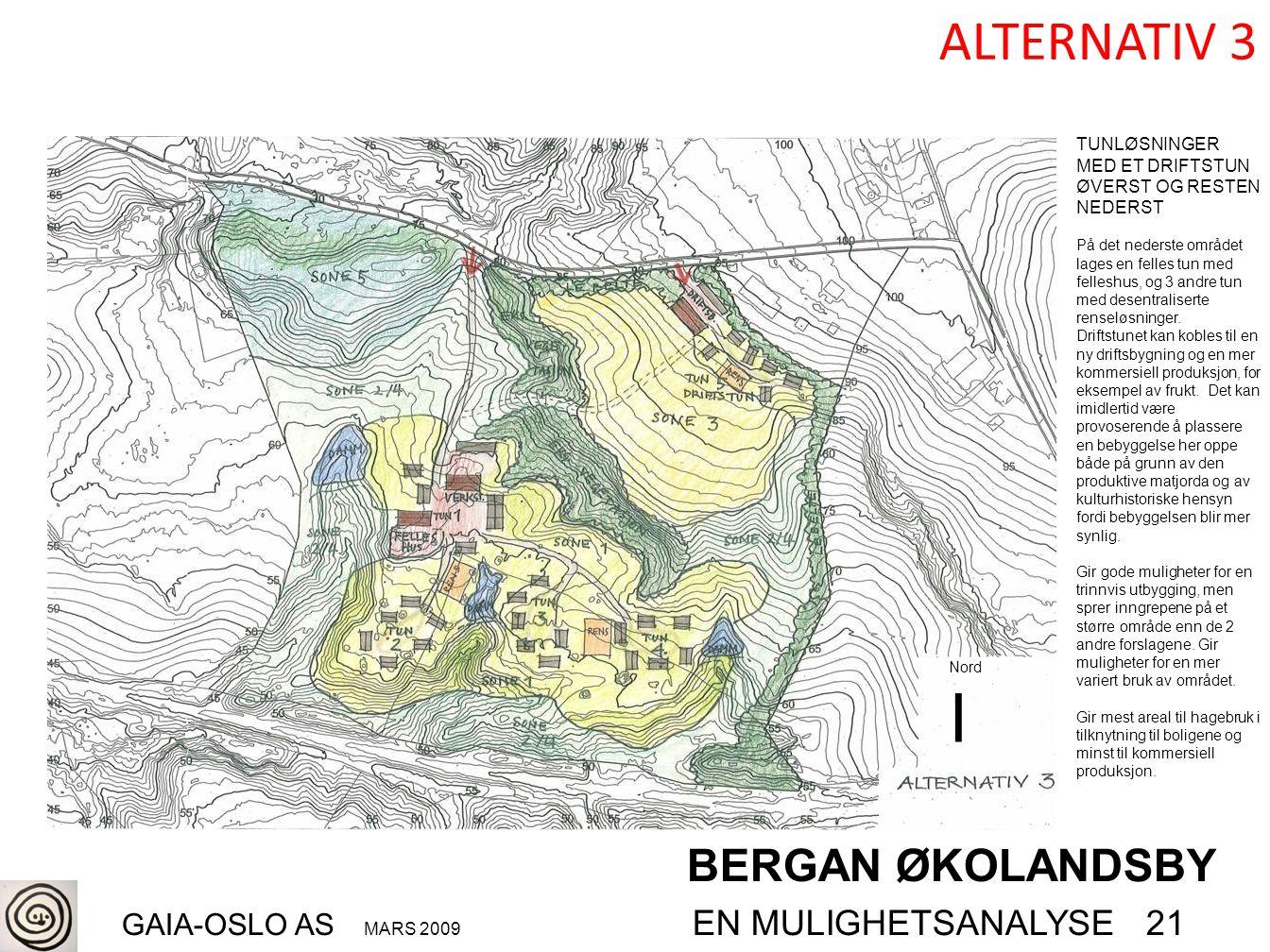 BERGAN ØKOLANDSBY GAIA-OSLO AS MARS 2009 EN MULIGHETSANALYSE 21