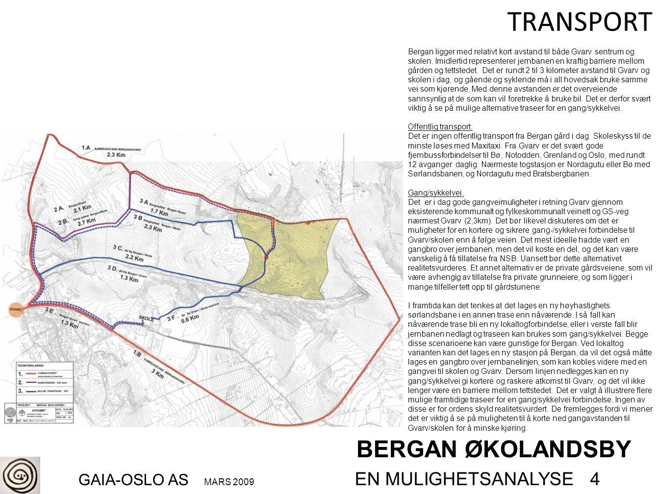 BERGAN ØKOLANDSBY GAIA-OSLO AS MARS 2009 EN MULIGHETSANALYSE 4